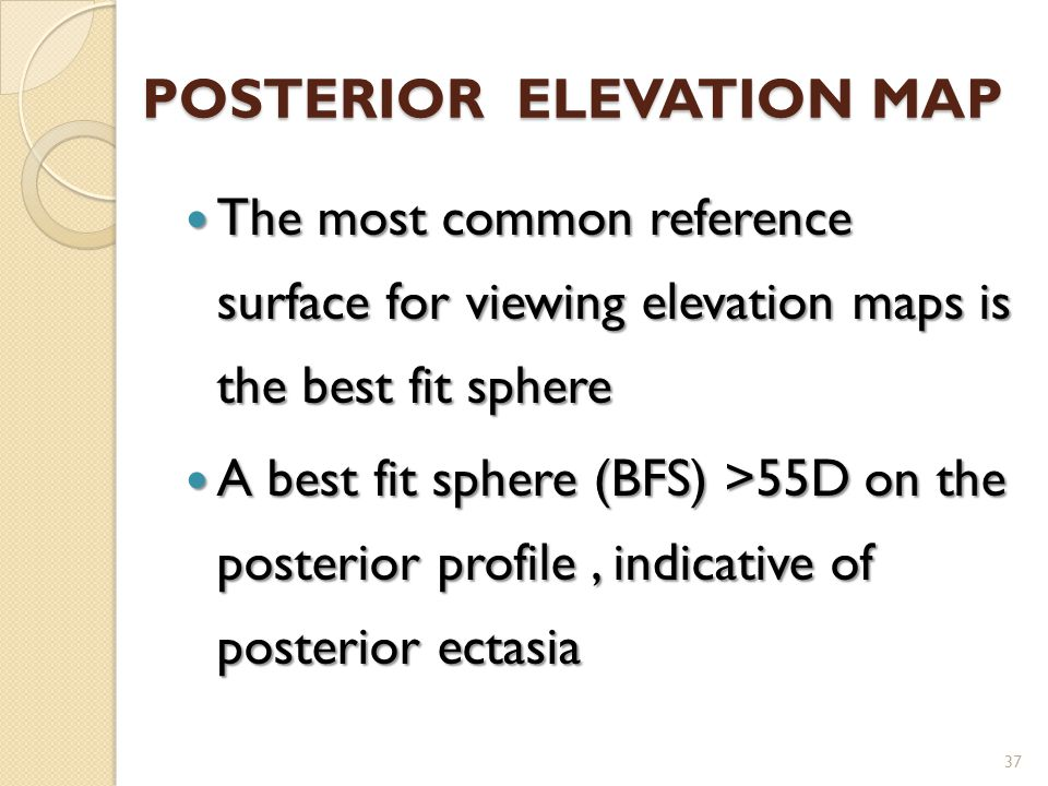 POSTERIOR ELEVATION MAP
