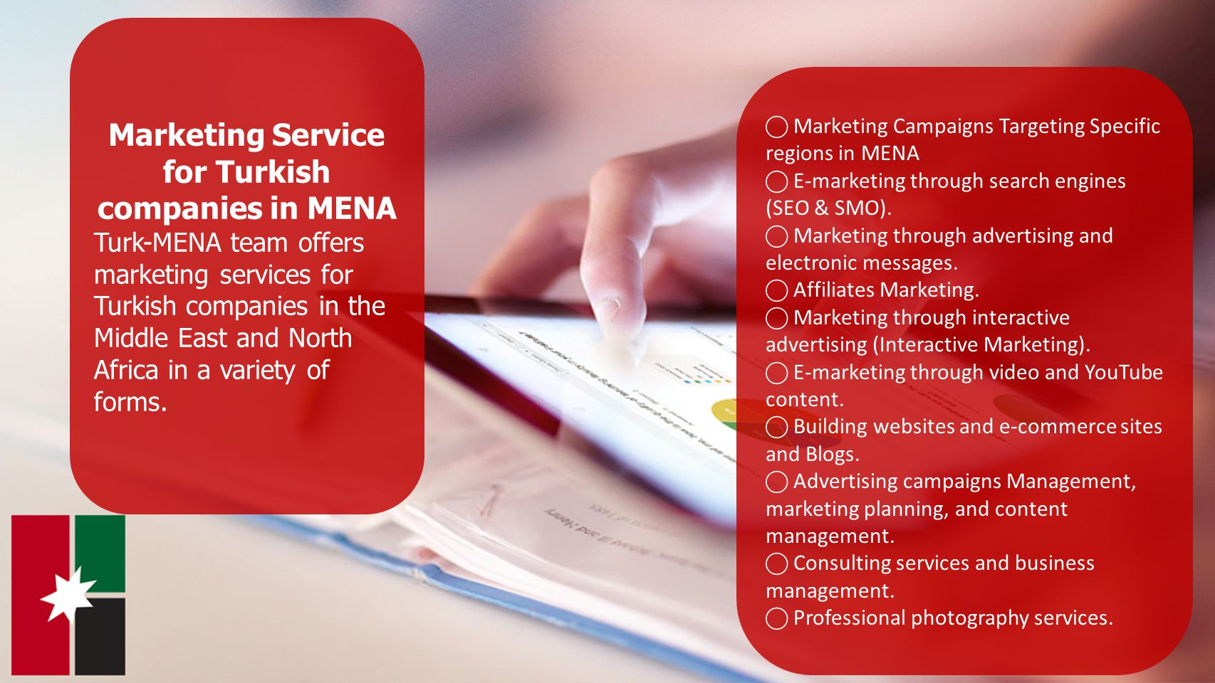 Marketing Service for Turkish companies in MENA