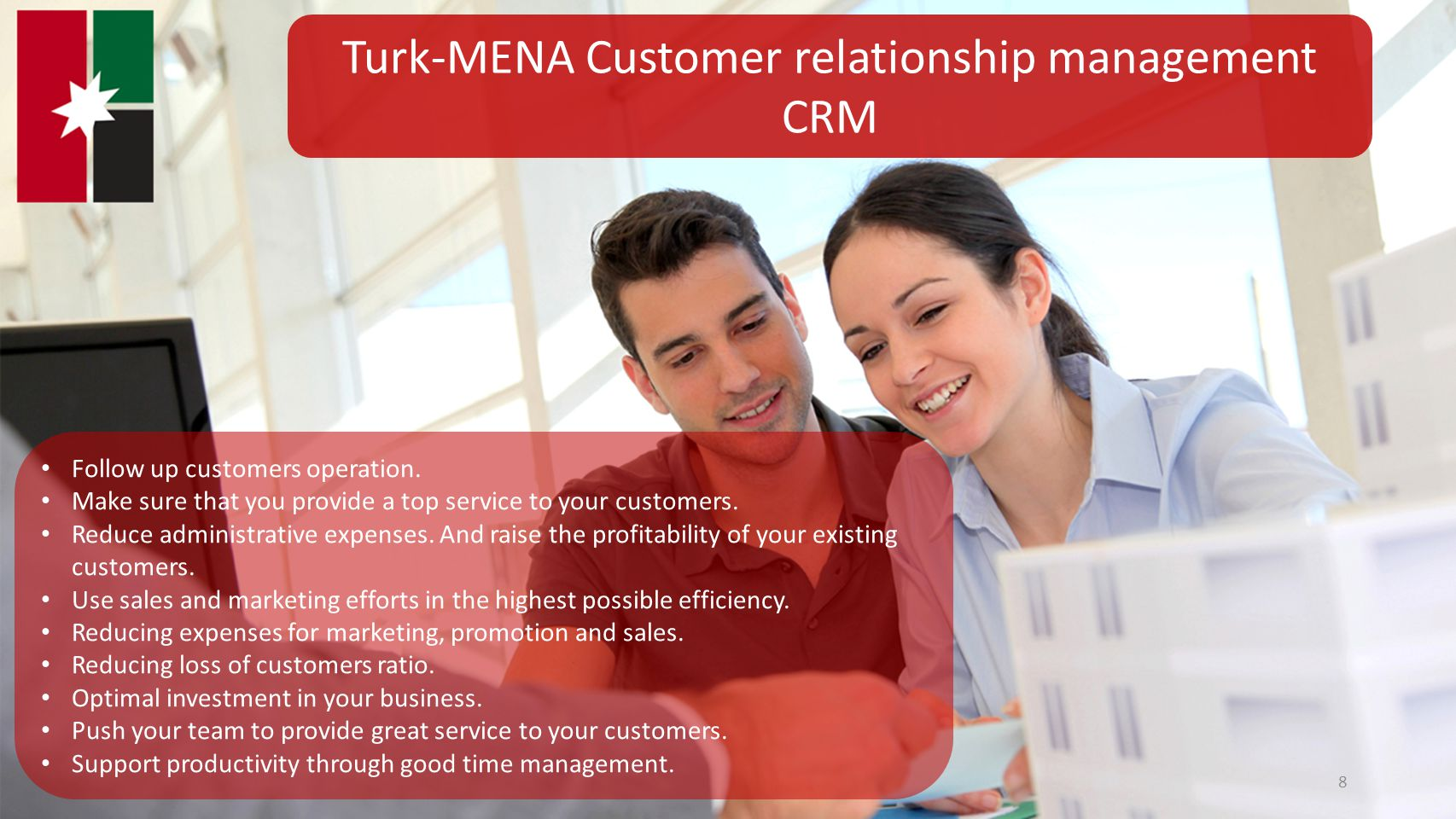 Turk-MENA Customer relationship management CRM