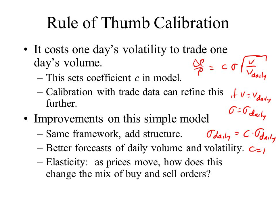Rule of Thumb Calibration