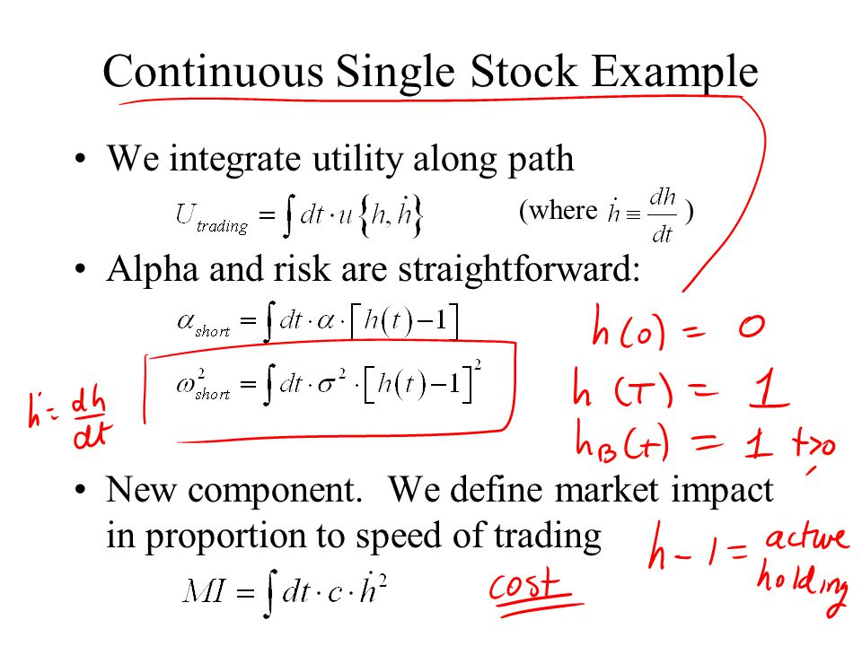 Continuous Single Stock Example