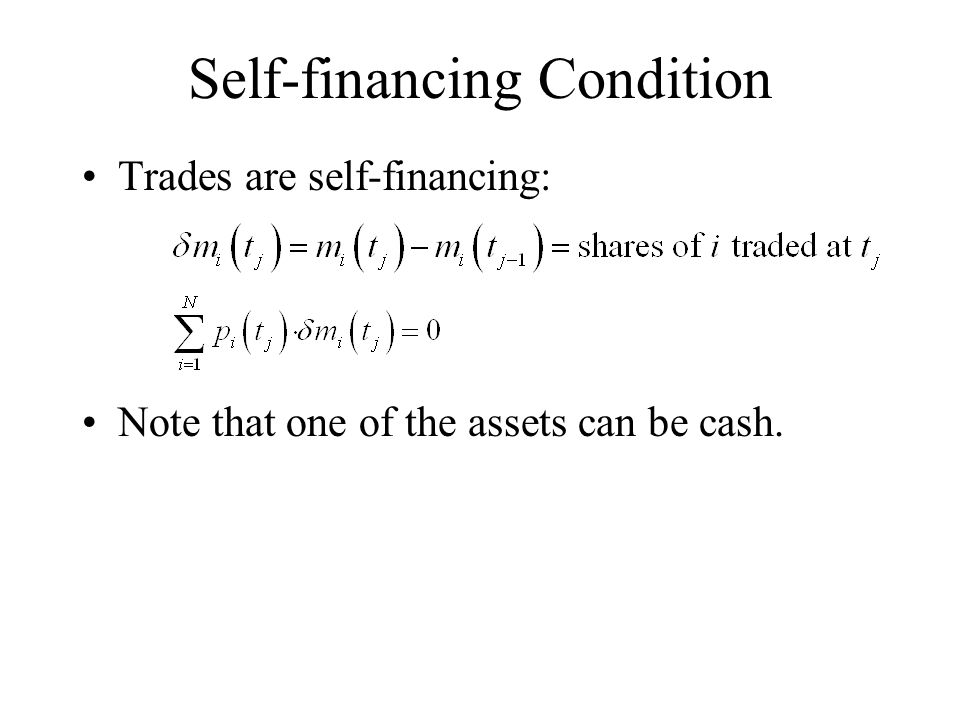 Self-financing Condition