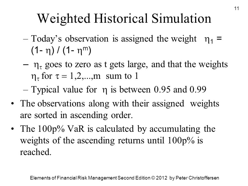 Weighted Historical Simulation