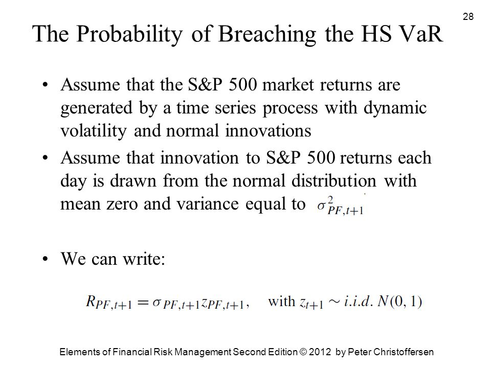 The Probability of Breaching the HS VaR