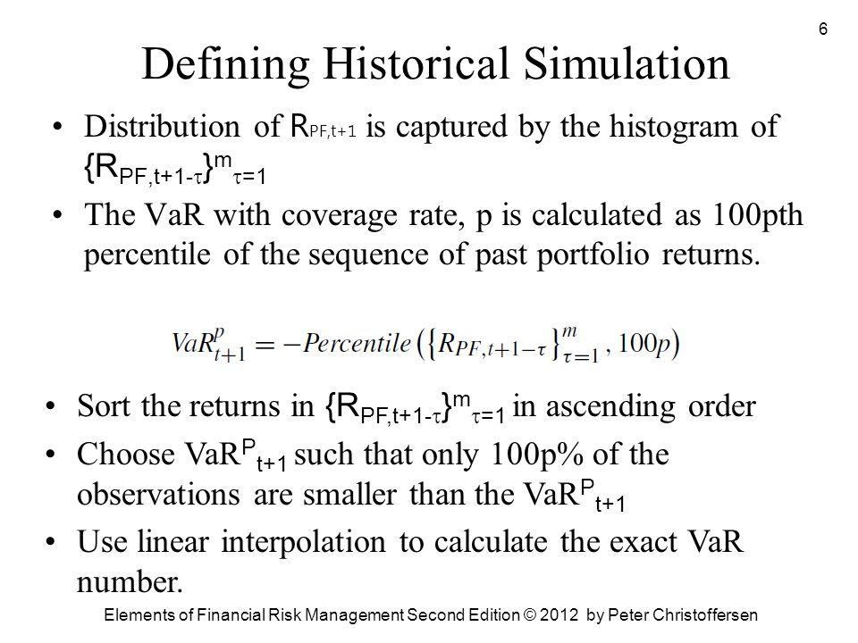 Defining Historical Simulation