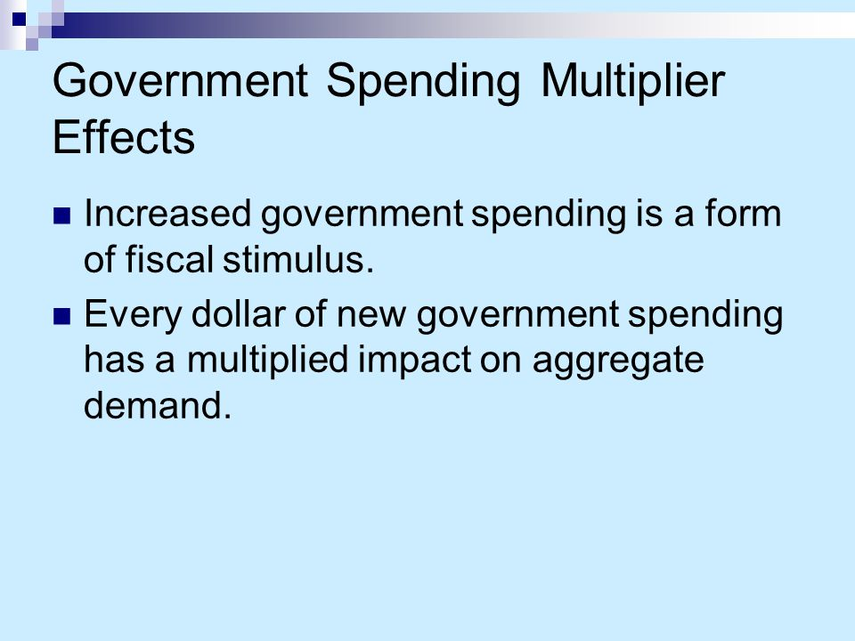 Government Spending Multiplier Effects