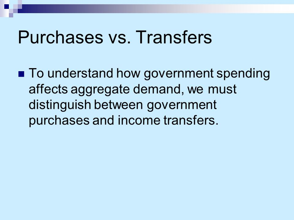Purchases vs. Transfers