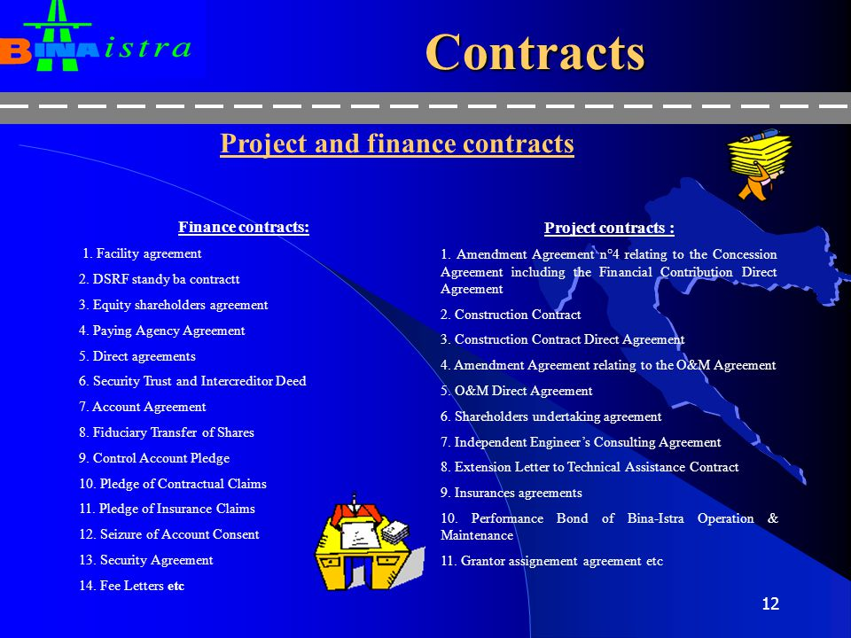 Project and finance contracts
