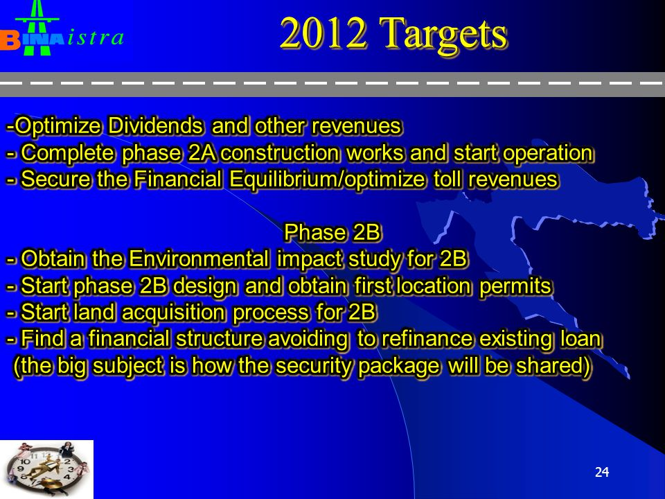 2012 Targets Optimize Dividends and other revenues