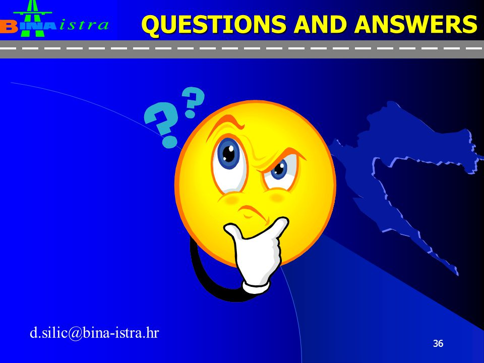 QUESTIONS AND ANSWERS d.silic@bina-istra.hr