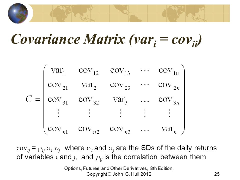 Covariance Matrix (vari = covii)