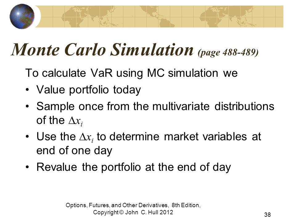Monte Carlo Simulation (page 488-489)