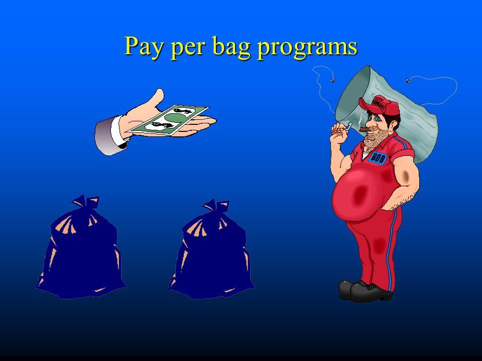 Pay per bag programs