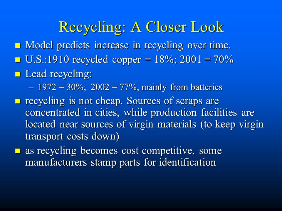 Recycling: A Closer Look