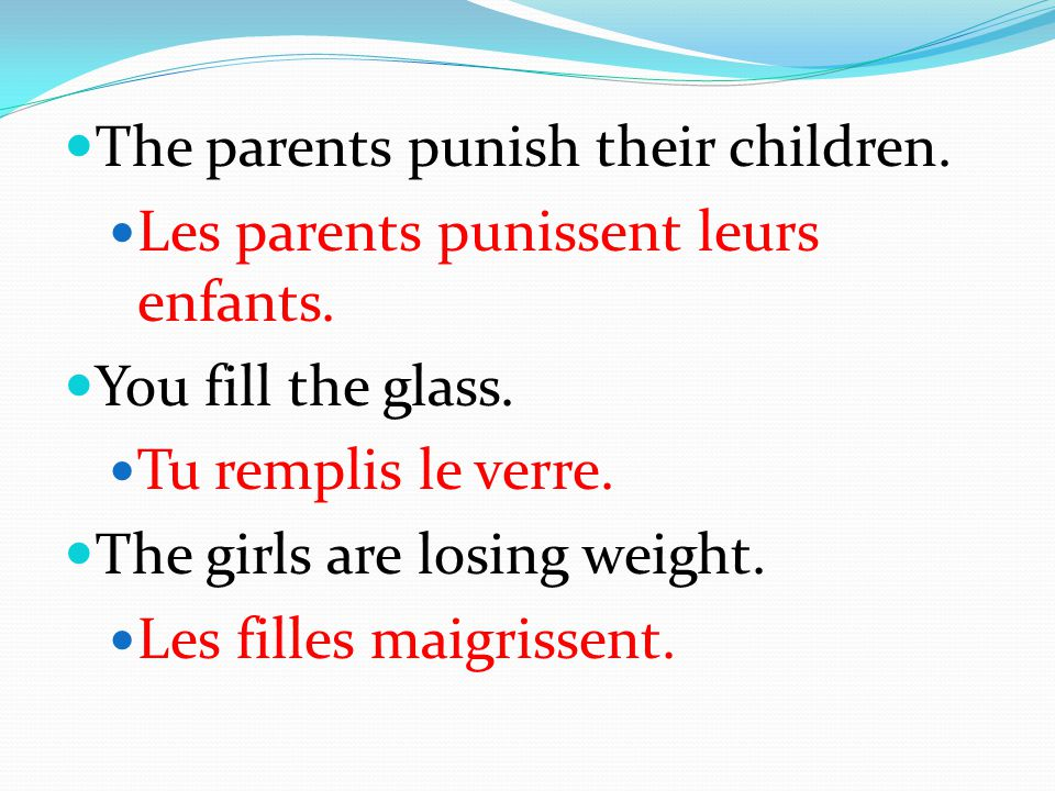 The parents punish their children.
