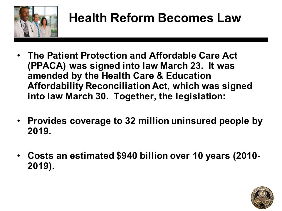 Health Reform Becomes Law