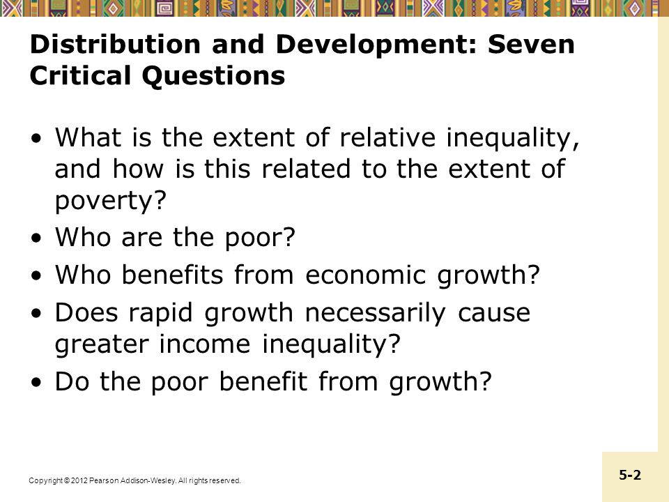 Distribution and Development: Seven Critical Questions