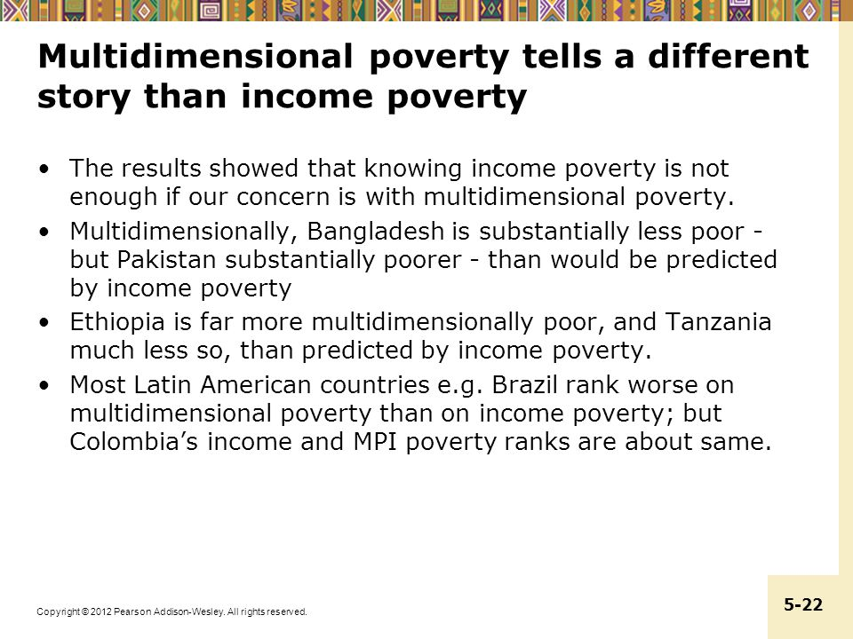 Multidimensional poverty tells a different story than income poverty