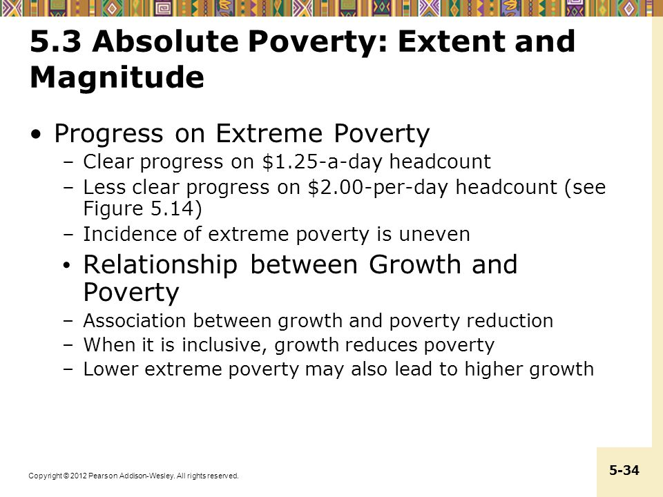 5.3 Absolute Poverty: Extent and Magnitude