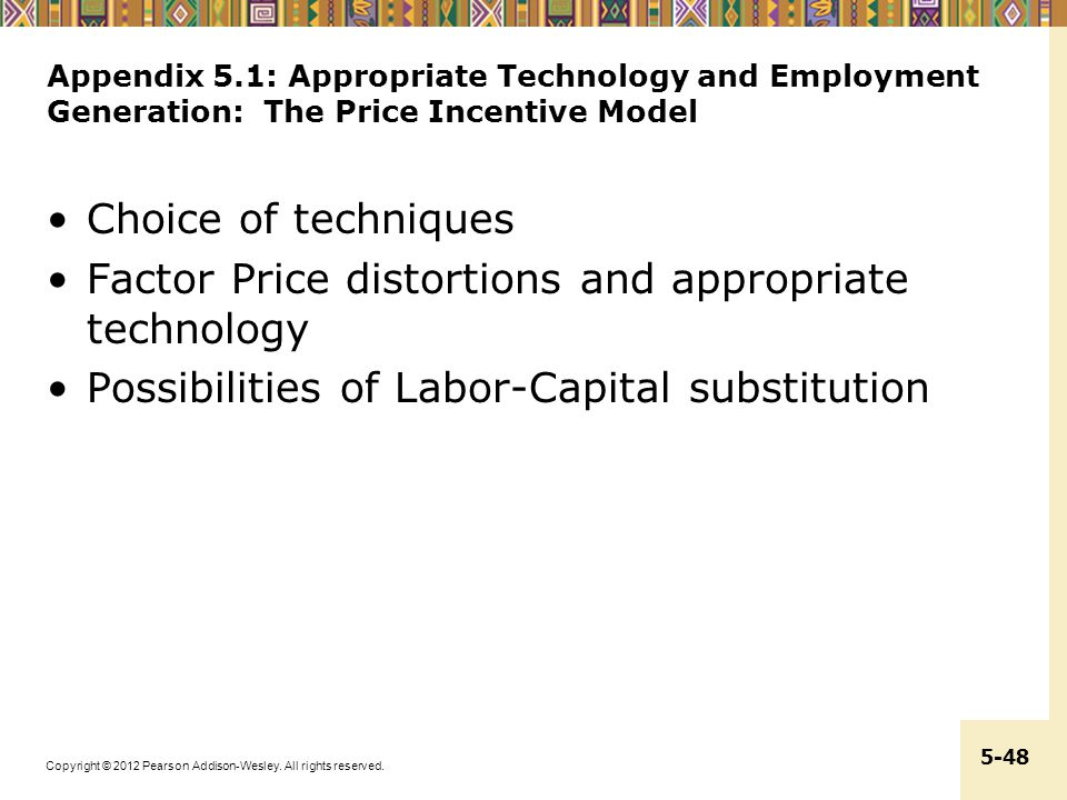 Factor Price distortions and appropriate technology