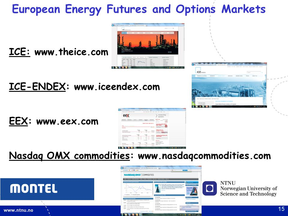 European Energy Futures and Options Markets