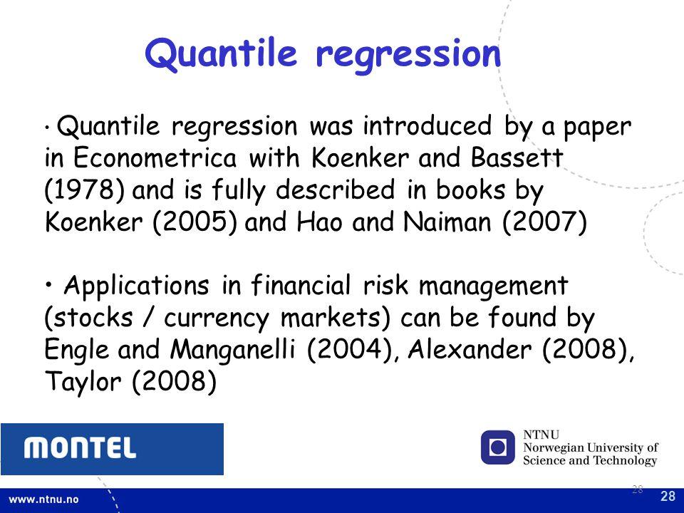Quantile regression