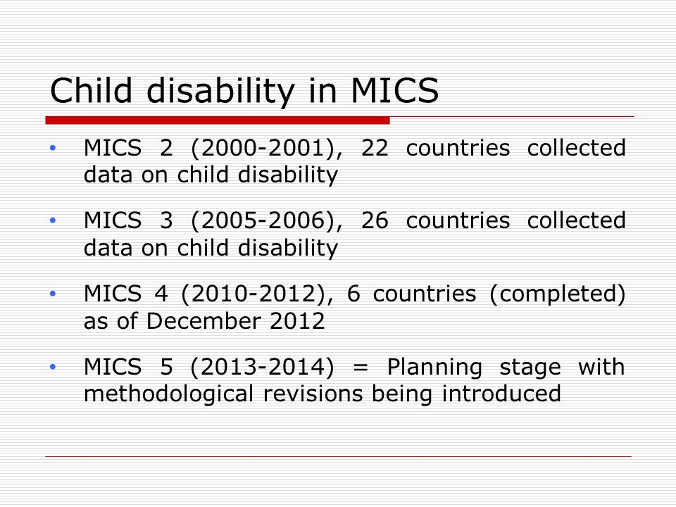 Child disability in MICS