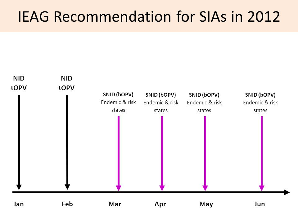 IEAG Recommendation for SIAs in 2012