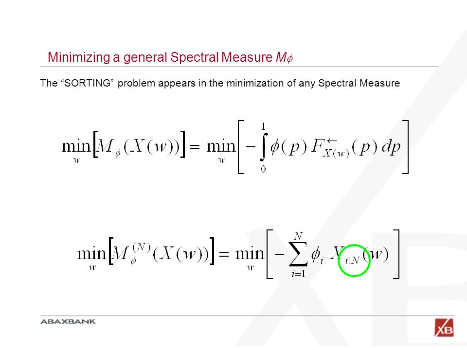 Minimizing a general Spectral Measure M