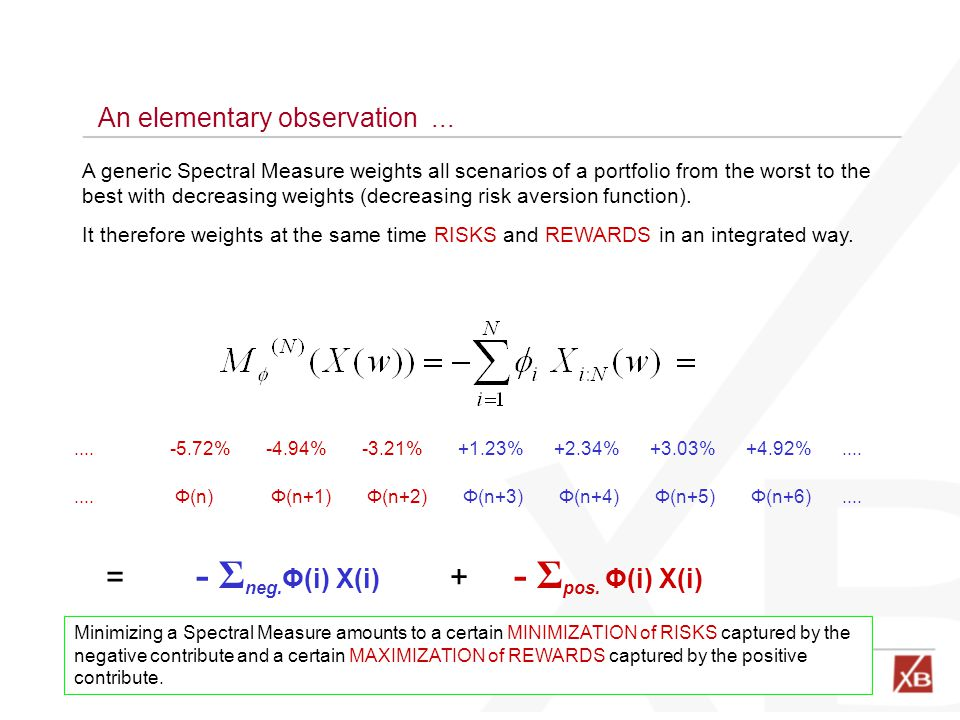 - Σneg.Φ(i) X(i) - Σpos. Φ(i) X(i) = + An elementary observation ...