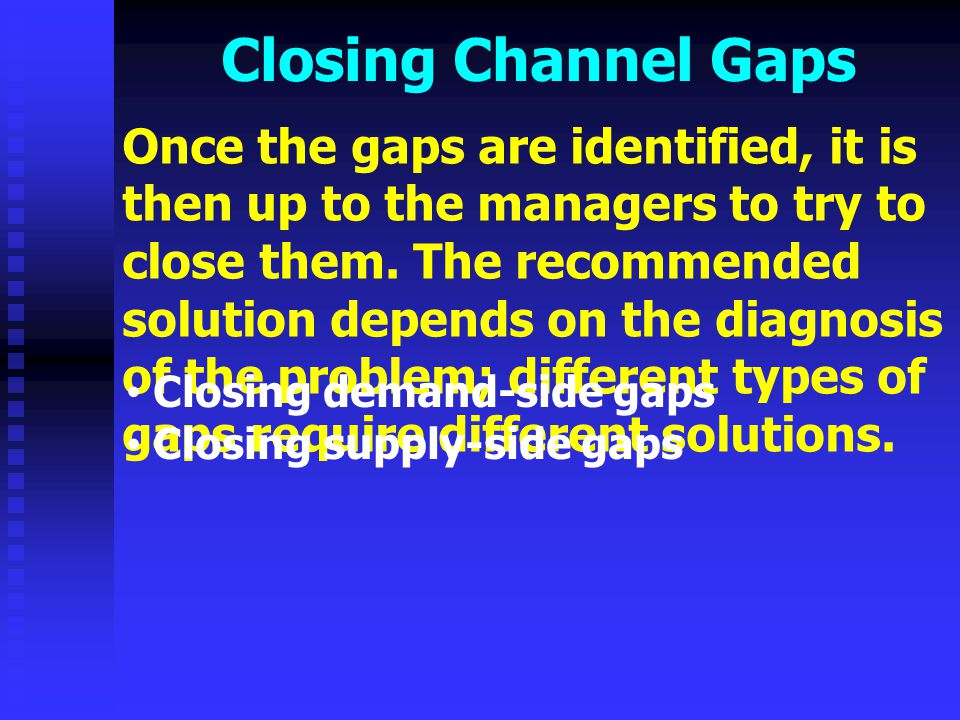 Closing Channel Gaps