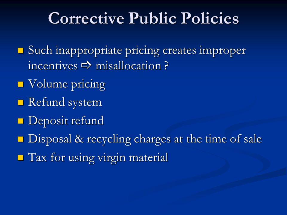 Corrective Public Policies