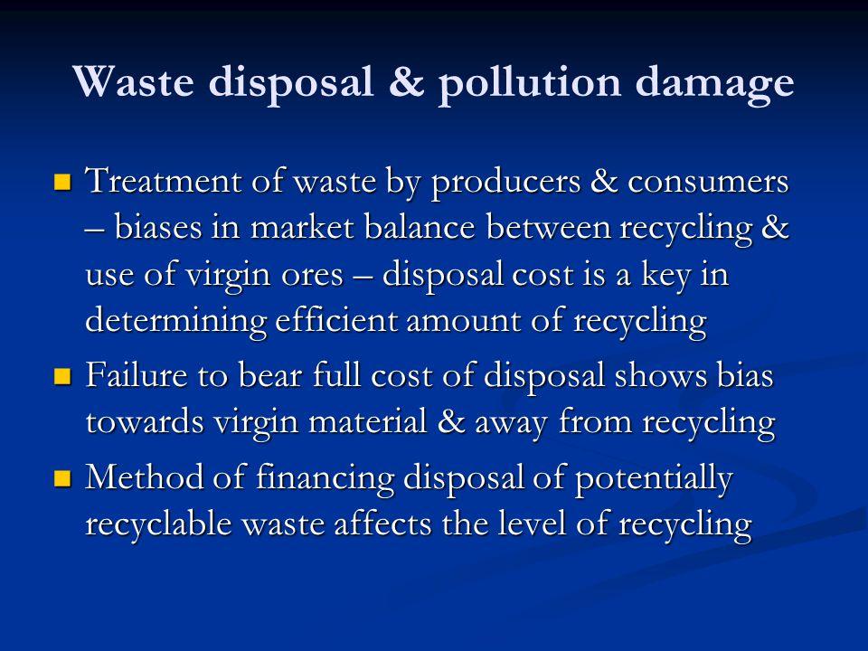 Waste disposal & pollution damage