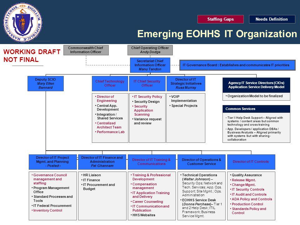 Emerging EOHHS IT Organization