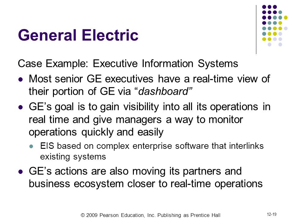 General Electric Case Example: Executive Information Systems