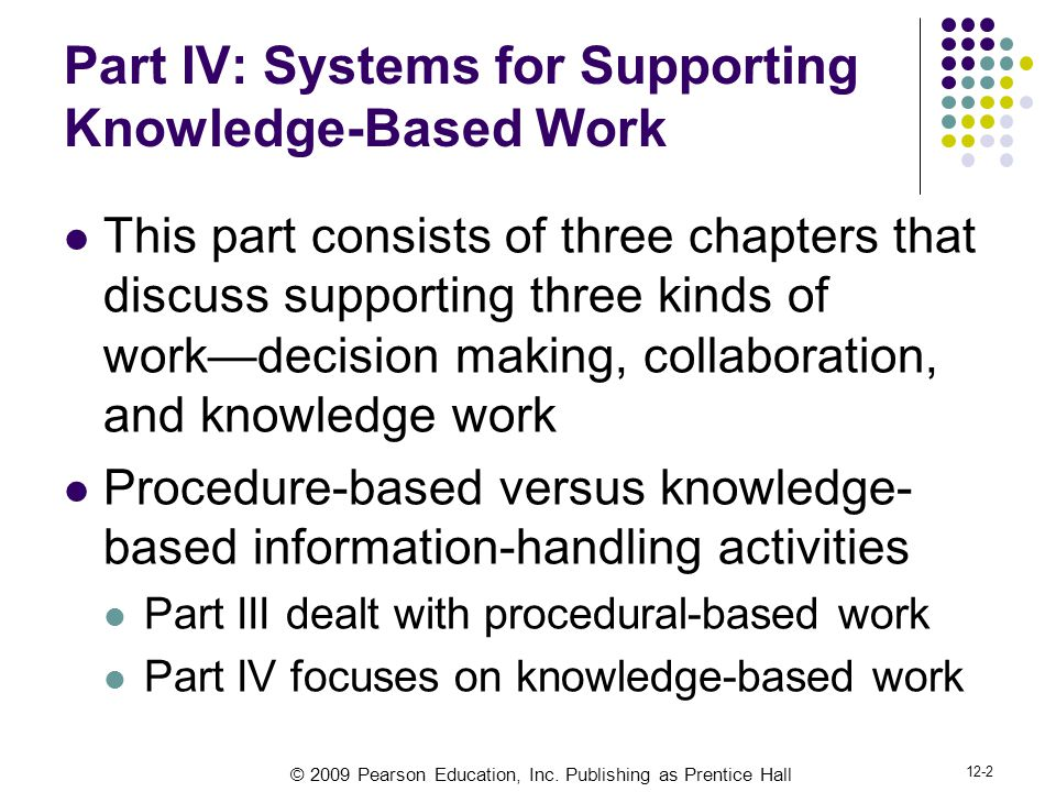 Part IV: Systems for Supporting Knowledge-Based Work