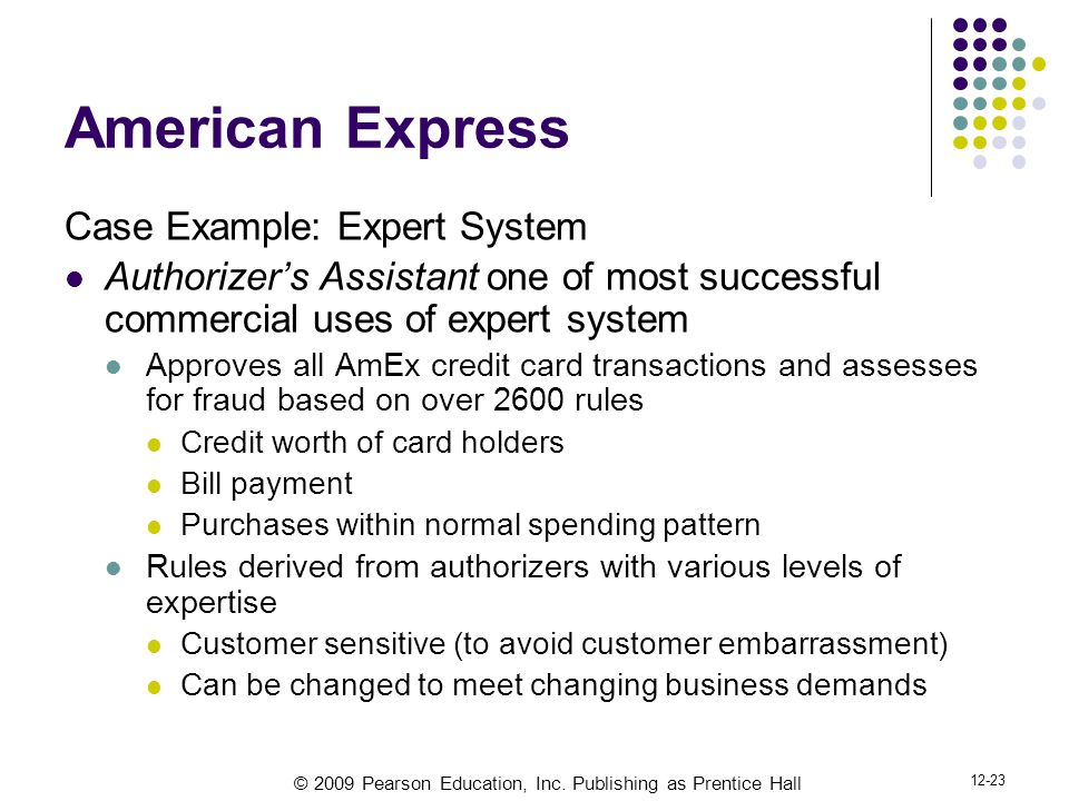 American Express Case Example: Expert System