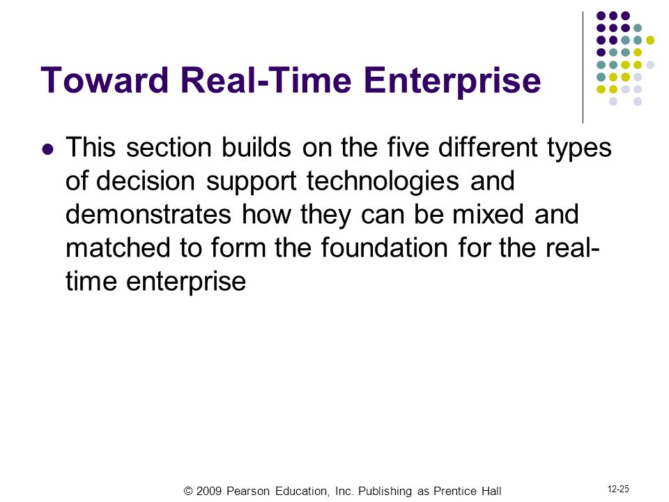 Toward Real-Time Enterprise