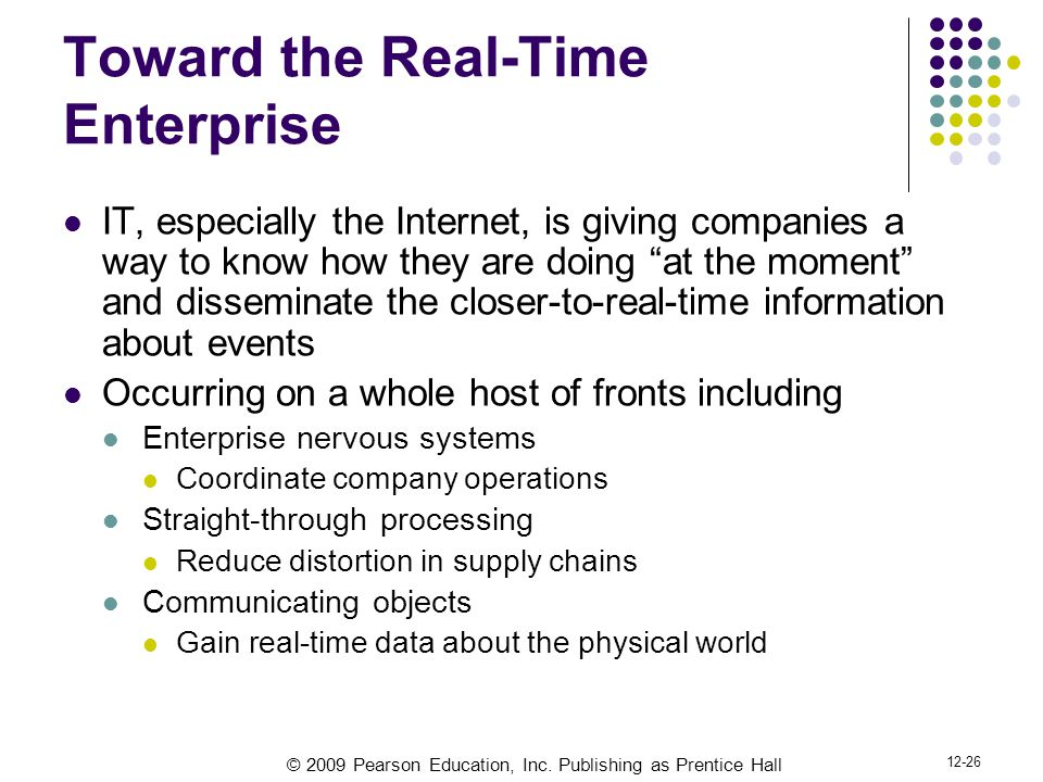 Toward the Real-Time Enterprise