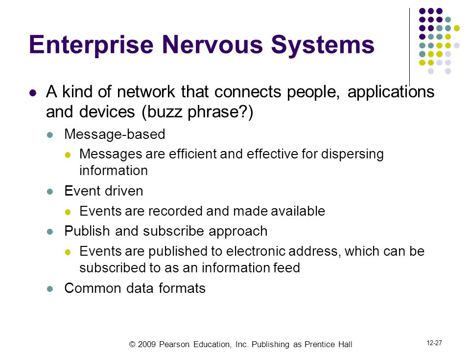 Enterprise Nervous Systems