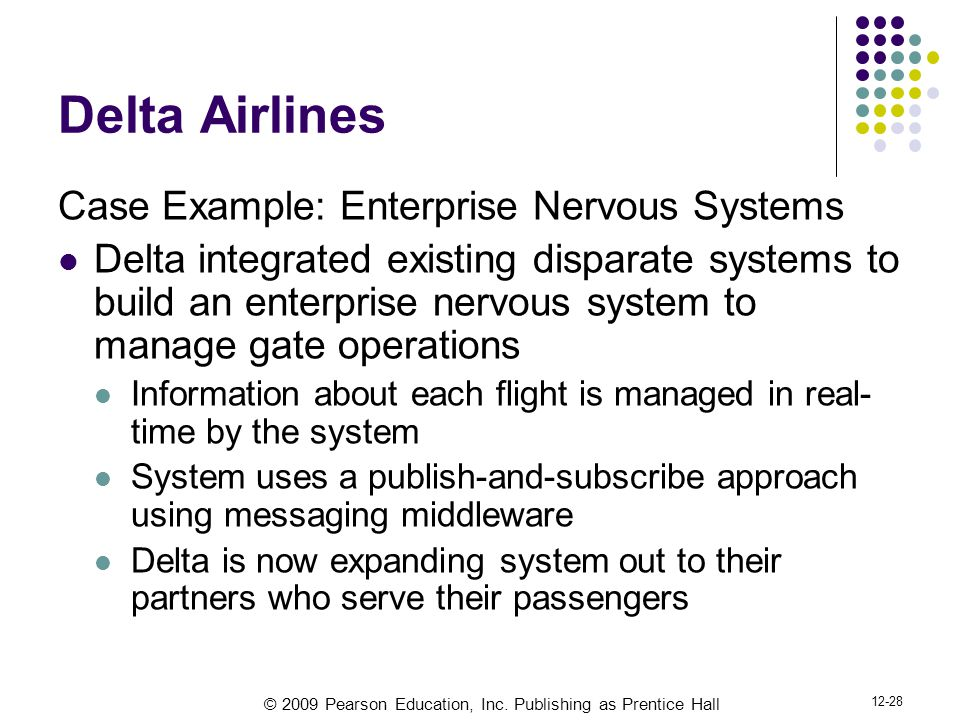 Delta Airlines Case Example: Enterprise Nervous Systems
