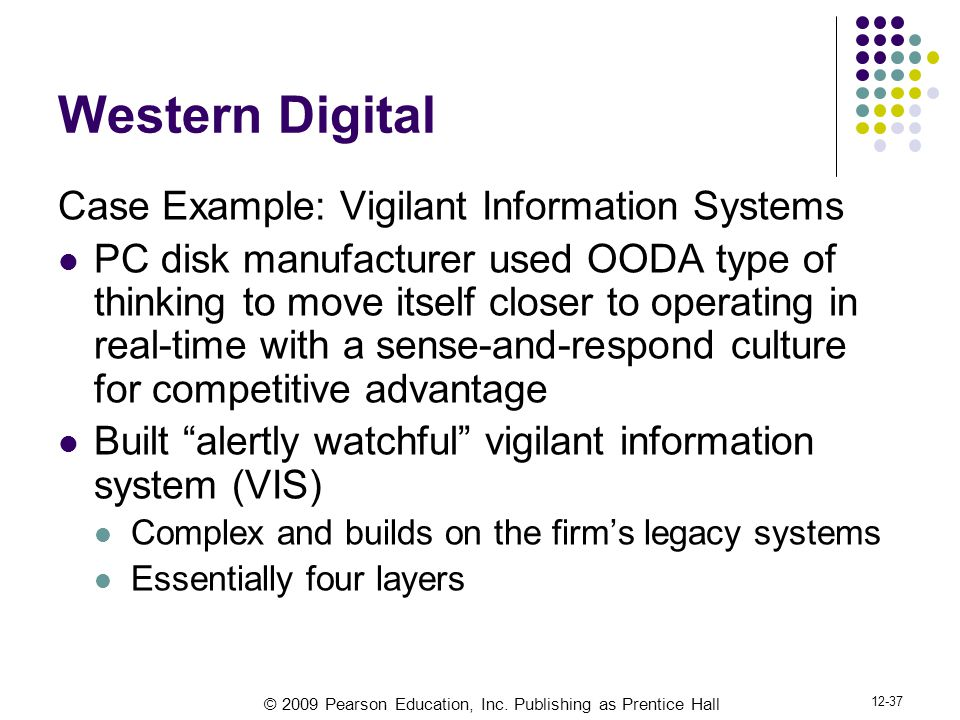 Western Digital Case Example: Vigilant Information Systems