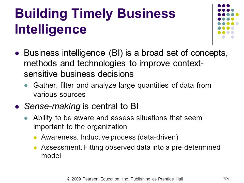 Building Timely Business Intelligence