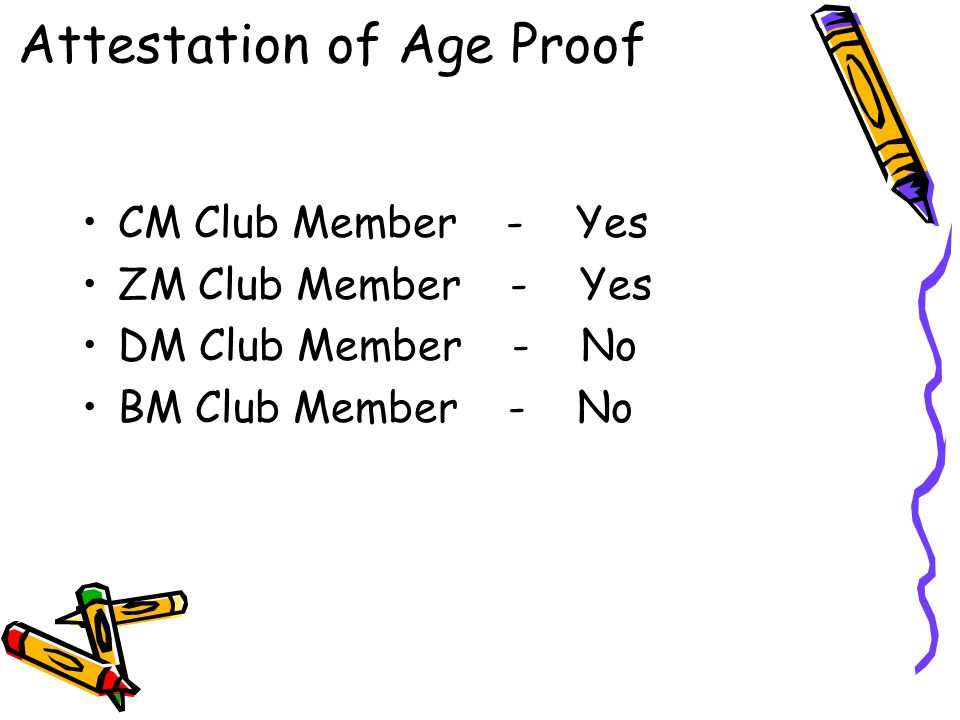 Attestation of Age Proof