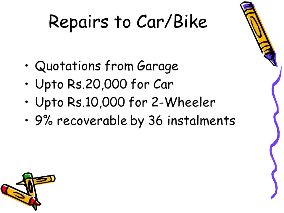 Repairs to Car/Bike Quotations from Garage Upto Rs.20,000 for Car