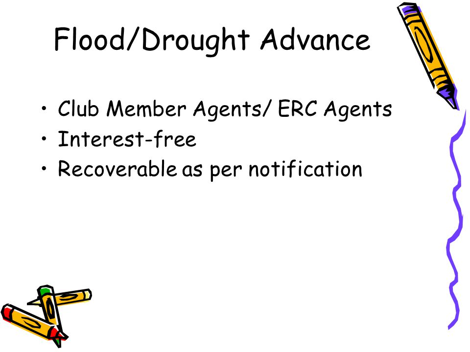 Flood/Drought Advance