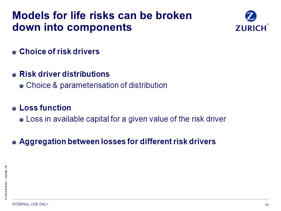 Models for life risks can be broken down into components