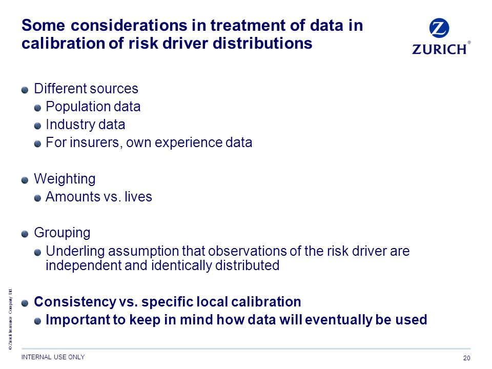 Some considerations in treatment of data in calibration of risk driver distributions