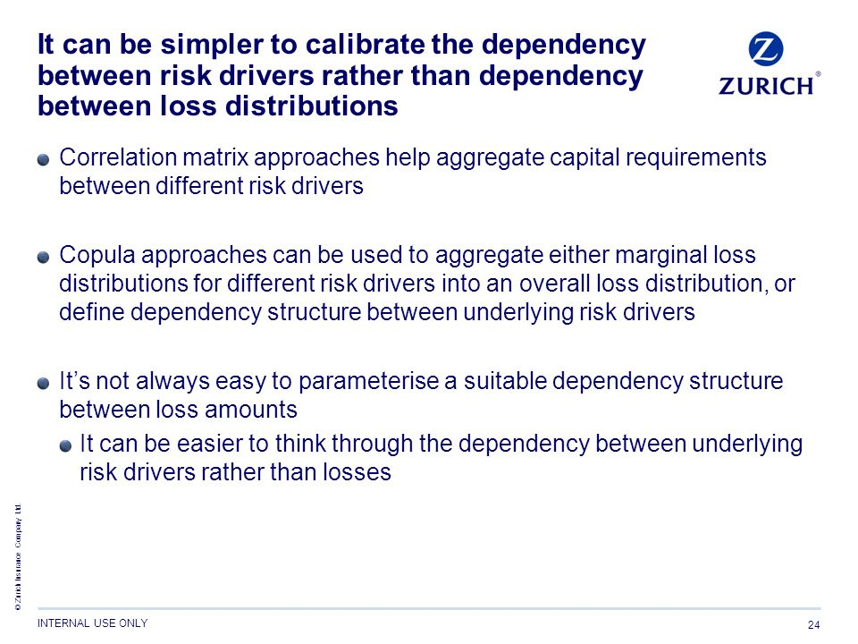 It can be simpler to calibrate the dependency between risk drivers rather than dependency between loss distributions