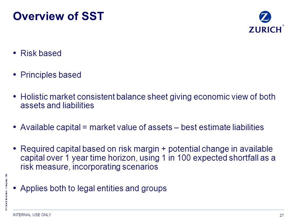 Overview of SST Risk based Principles based